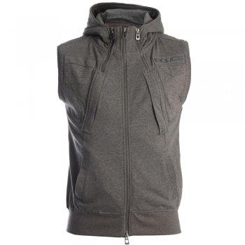 Men's Tops Fang Sleeveless Hoody in Grey