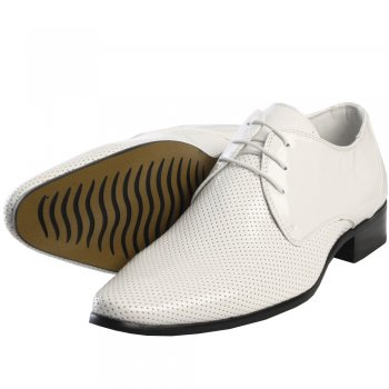 Men's Footwear Peiro High Shine Pointed Shoe in White