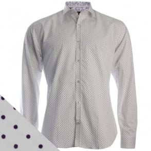 3917 Simple Dotted Shirt in Purple