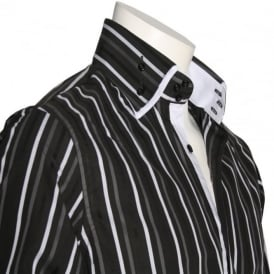 SCS06 Black Multi Stripe Shirt