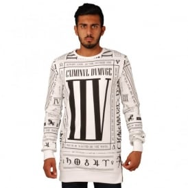 Criminal Damage Criminal Scorplan Long Sweat Top