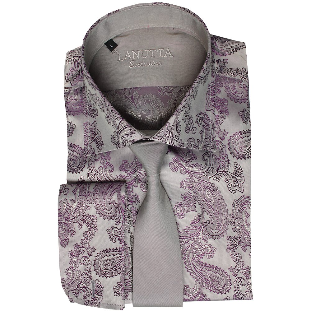 Buy mens shirts online buy mens shirt and tie sets at for Ties that go with purple shirts