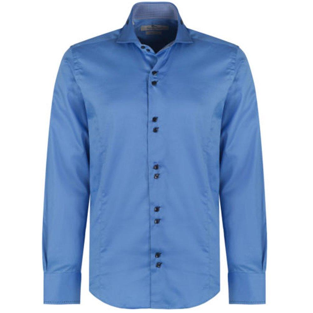 Claudio Lugli Cutaway Collar Shirt In Blue