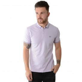 Armani Jeans | 3Y6F24 Tipped Polo T-Shirt - Lilac