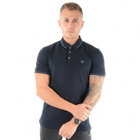 Armani Jeans | 3Y6F24 Tipped Polo T-Shirt - Navy