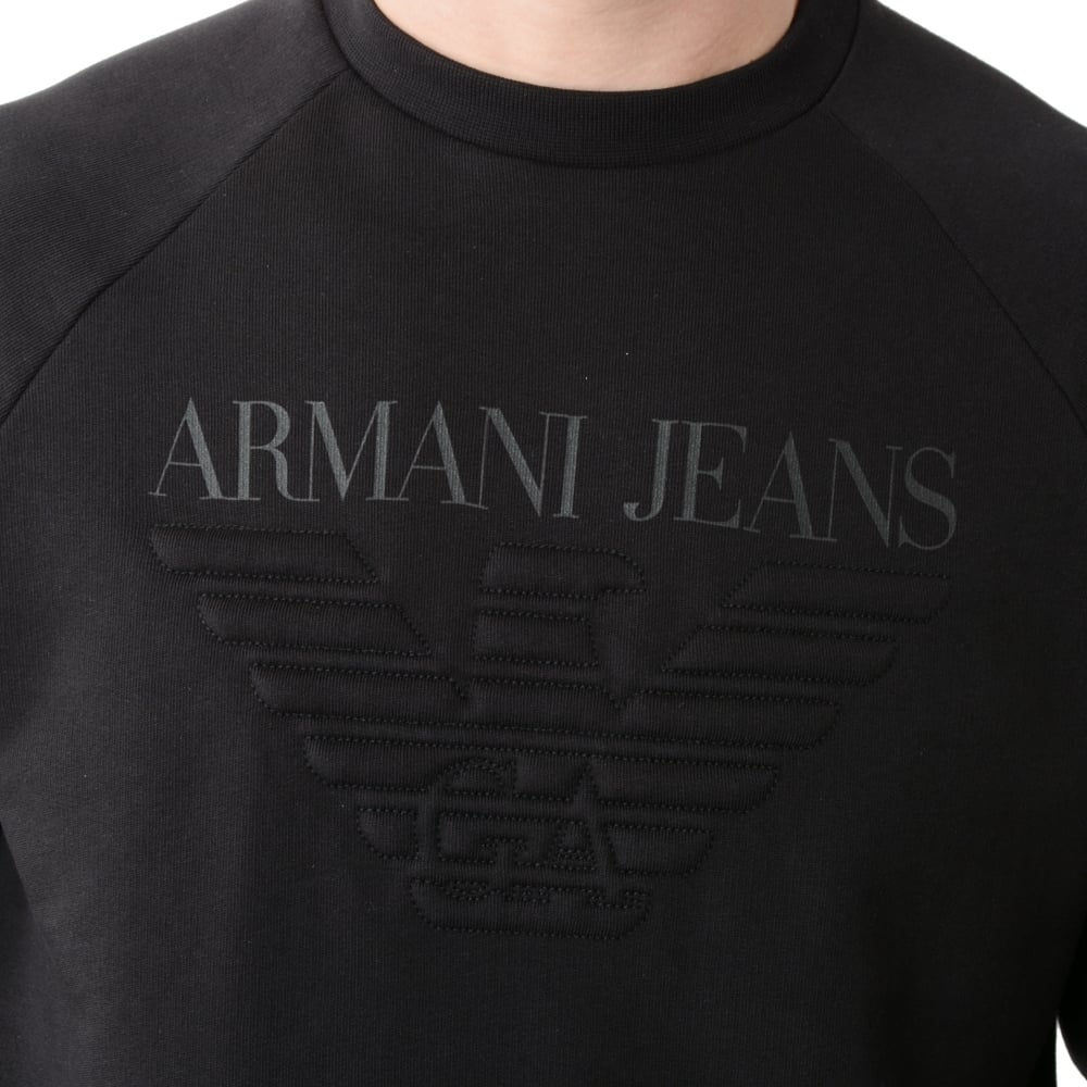 Buy Armani Jeans Top   CBMenswear   Armani Jeans Black Sweat Top 59cd5271bba1