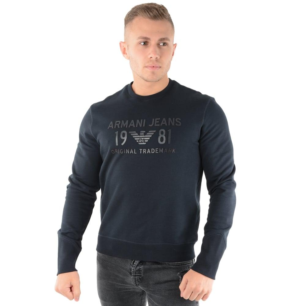 Buy Armani Jeans Top   CBMenswear   Armani Jeans 3Y6M25 Navy Sweat Top b72203b96966