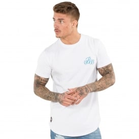 Bee Inspired Corte 340 White/Neon Blue T-Shirt