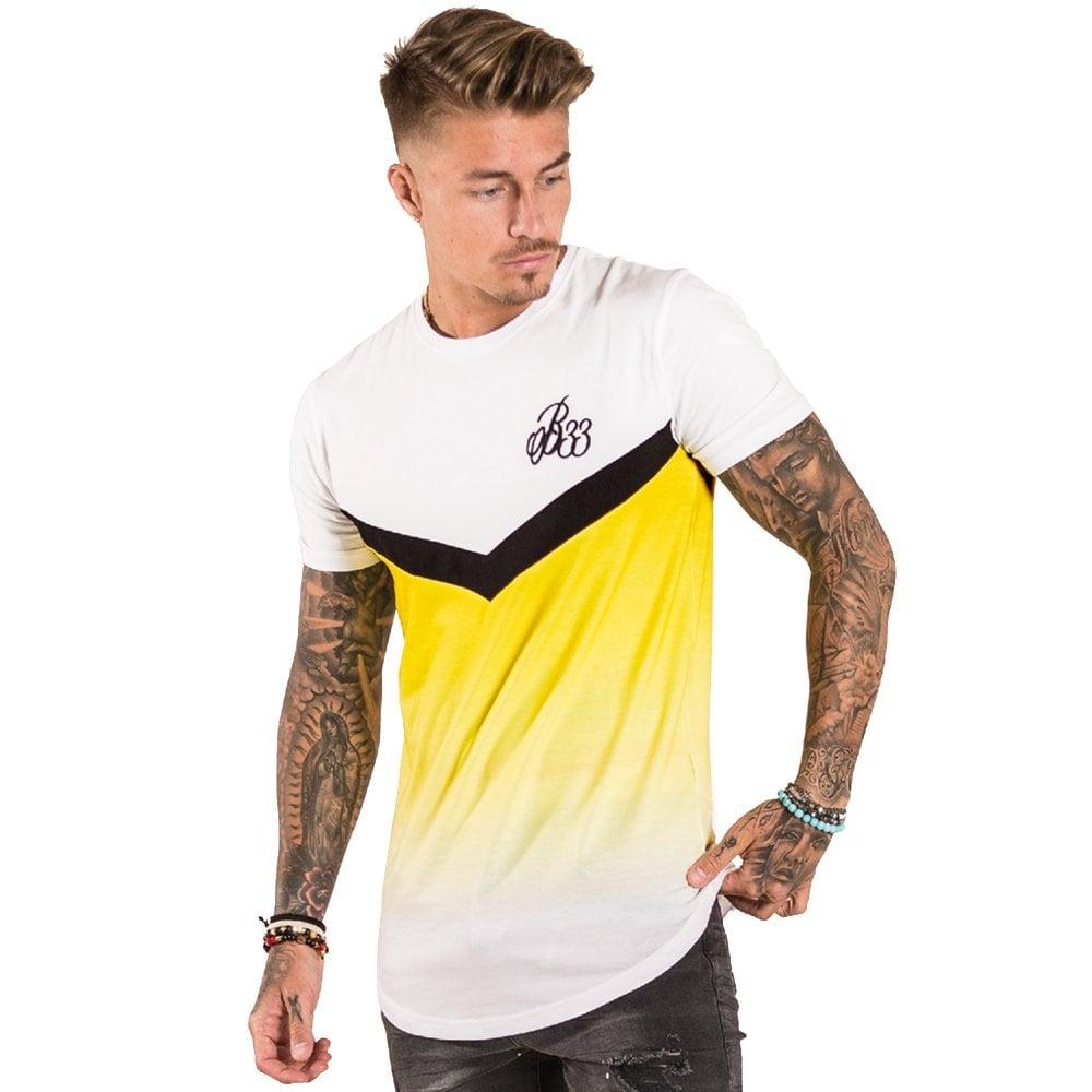 9f016fca9b2 Bee Inspired Latham BI 572 Half Sleeve T-Shirt - White Yellow