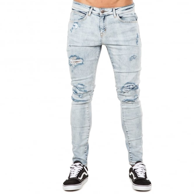 Bee Inspired Macon Skinny Jeans - Ice Blue