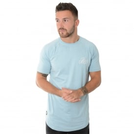 Bee Inspired Nixon Suede 214 T-Shirt Top - Sky