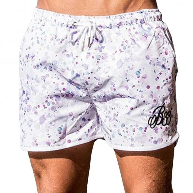 Bee Inspired Shore 317 Racer Swim Short - White
