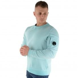 C.P. Company | 04CMSS055A Lens Arm Sweat Top - Sky Blue