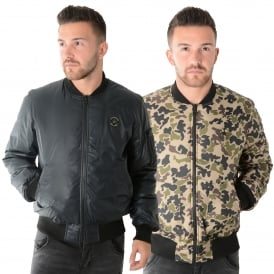 Converse 01103 Reversible Black Camo Puffer Jacket