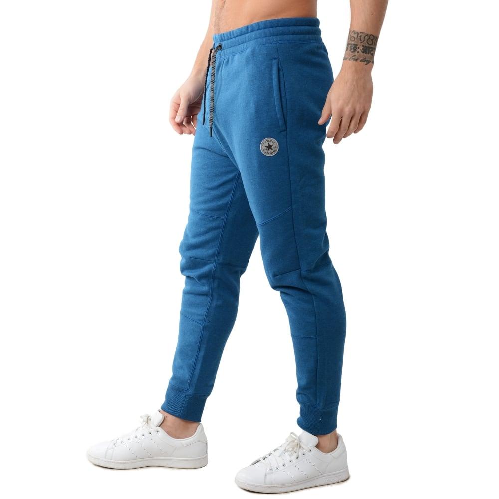 blue converse joggers