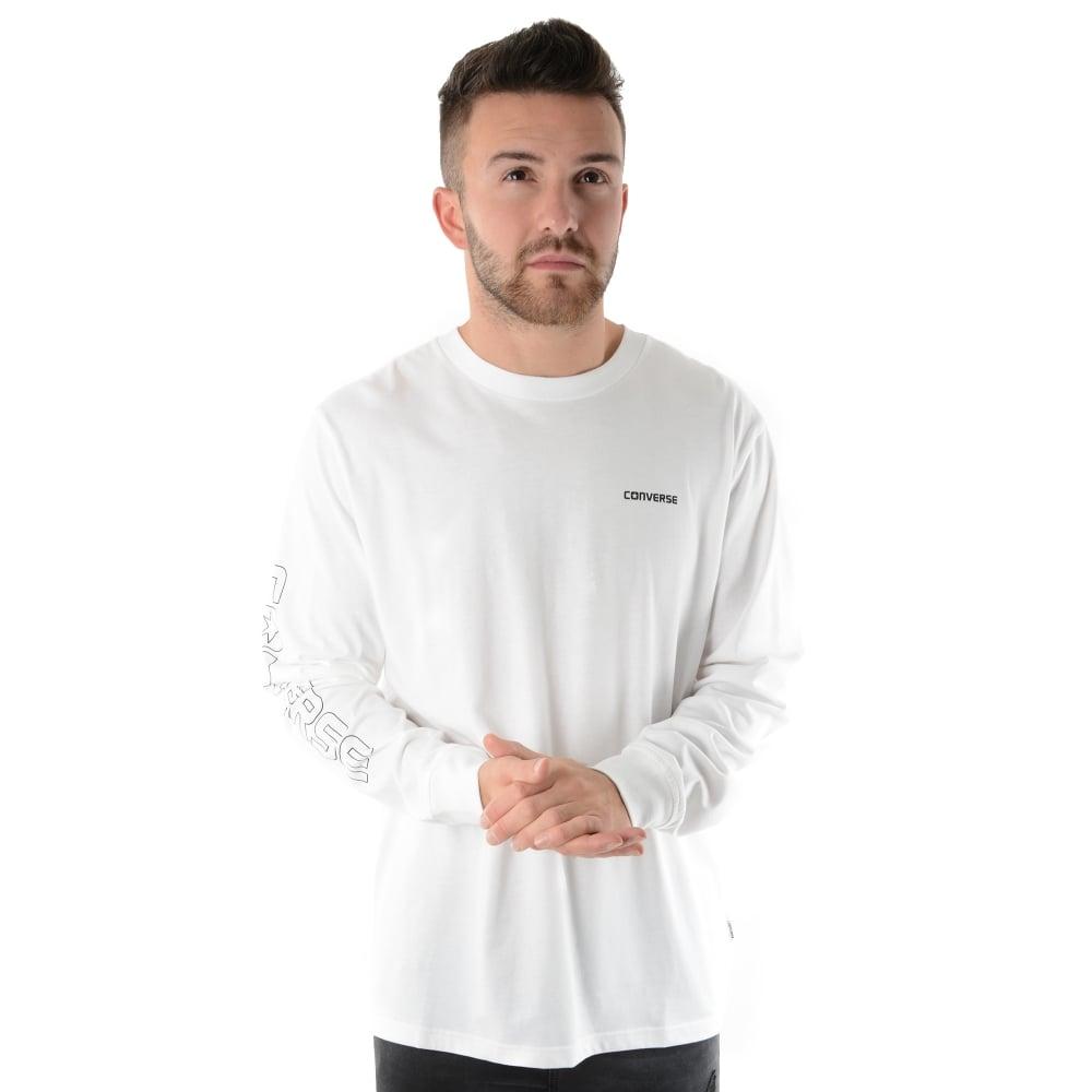 0233e5761486 Converse 04707 Long Sleeve Top - White