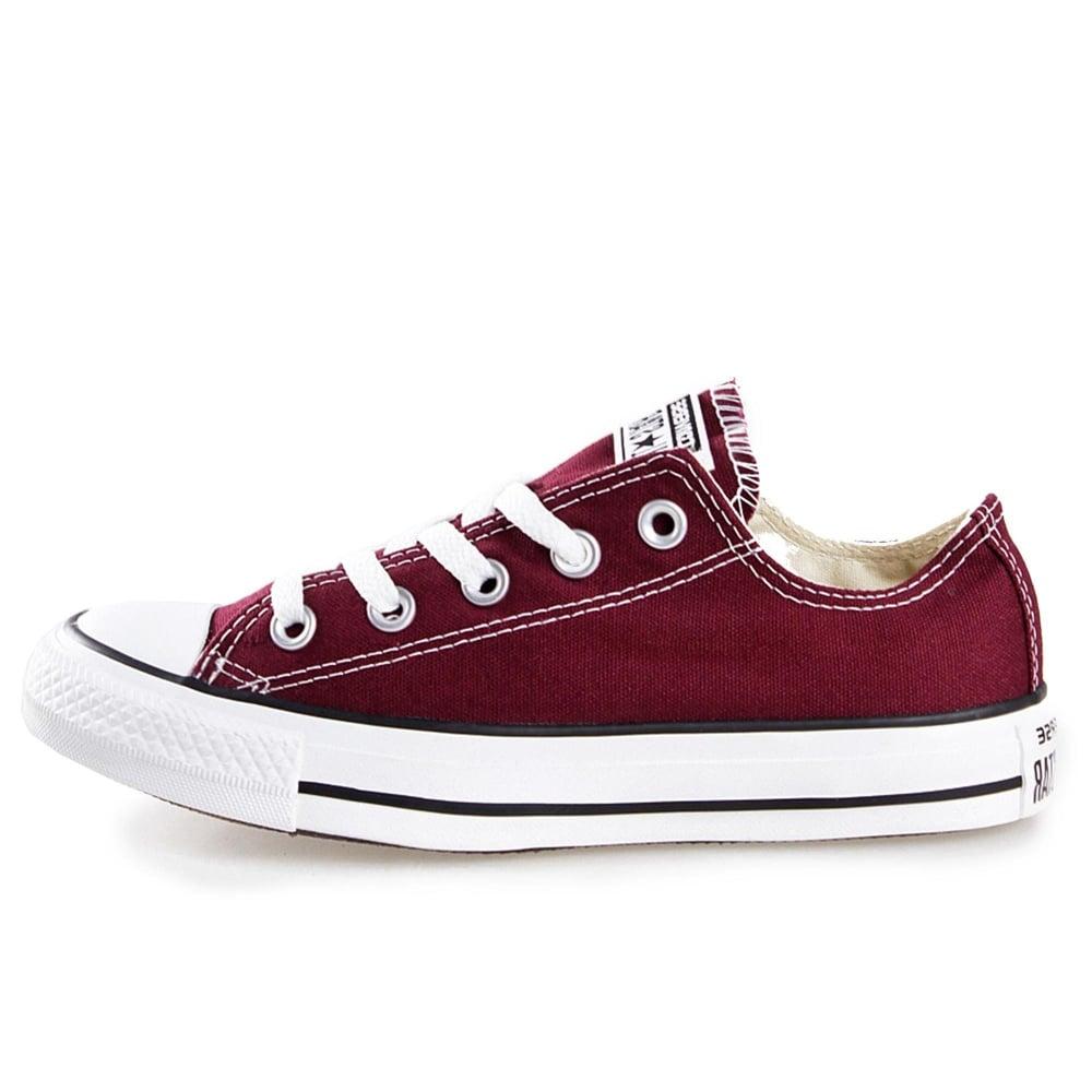 burgundy converse boots