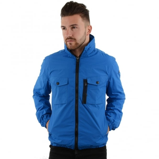 Duck & Cover Duck And Cover 1F0021 Crome Light Weight Utility Jacket - Royal Blue