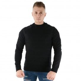 EA7 | Emporio Armani 3Z1M69 Logo Crew Sweat Top - Black