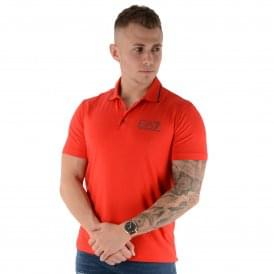 EA7 | Emporio Armani 3ZPF51 Core Polo T-Shirt - Red