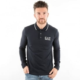 EA7 | Emporio Armani 6XPF54 Core Plain Long Sleeved Polo Shirt