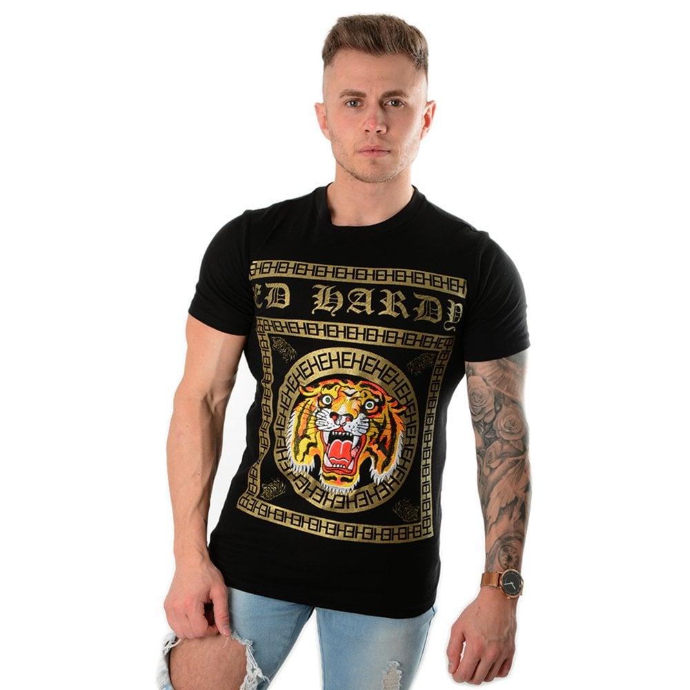 reliable reputation buy cheap wholesale dealer | Tiger Tile Print Half Sleeve T-Shirt