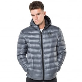11 Degrees 11D-1034 Space Padded Puffer Jacket - Charcoal