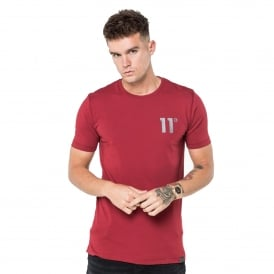 11 Degrees 11D-1144 Core Half Sleeve T-Shirt - Burnt Red