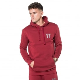 11 Degrees 11D-1149 Core Pull Overhead Hoodie - Burnt Red