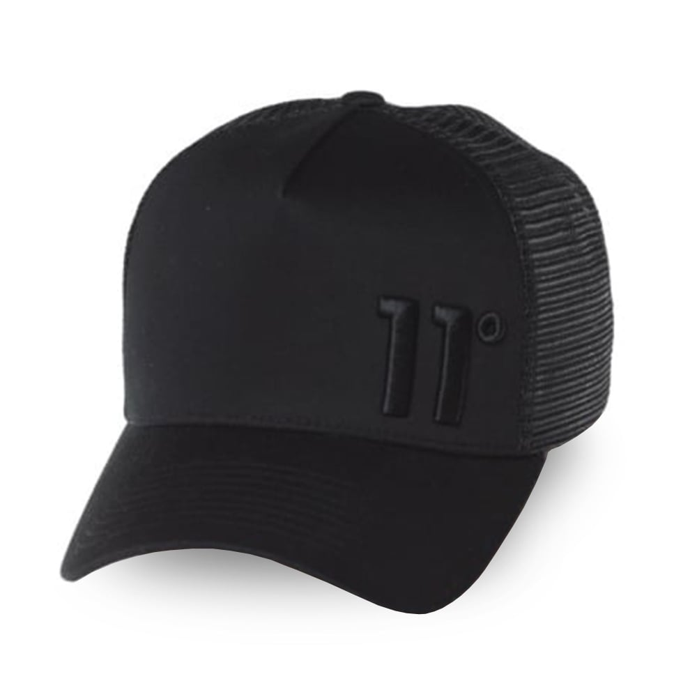 11 Degrees 11D-1587 Trucker Cap - Black Out eb43cb302f28