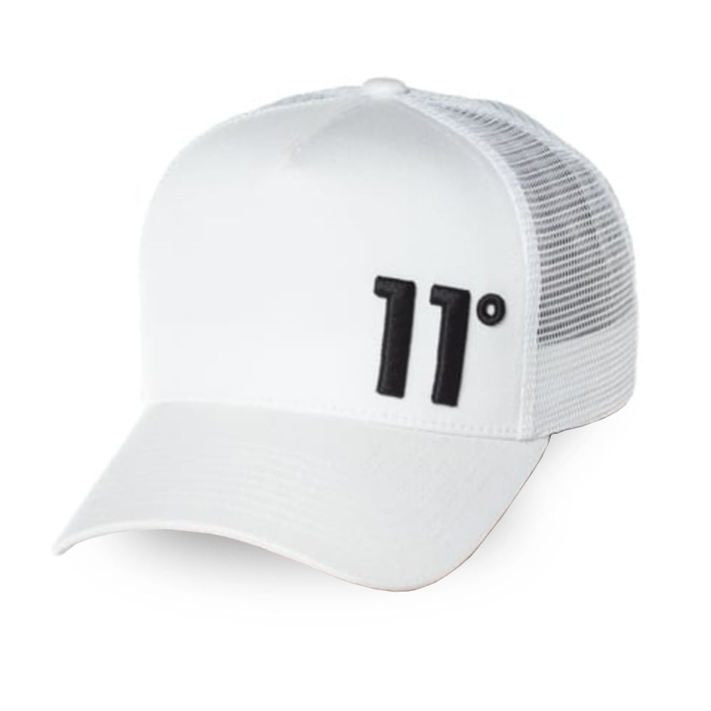 55f8b1146e0 11 Degrees 11D-1647 Trucker Cap - White