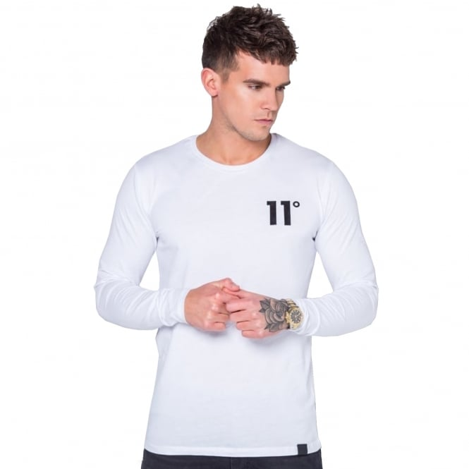 Eleven Degrees 11 Degrees 11D-238 Core Long Sleeve Top - White
