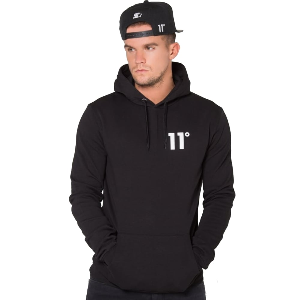 35388617b1fdc Buy 11 Degrees Tops | CBMenswear | 11 Degrees Black Core Hood Top