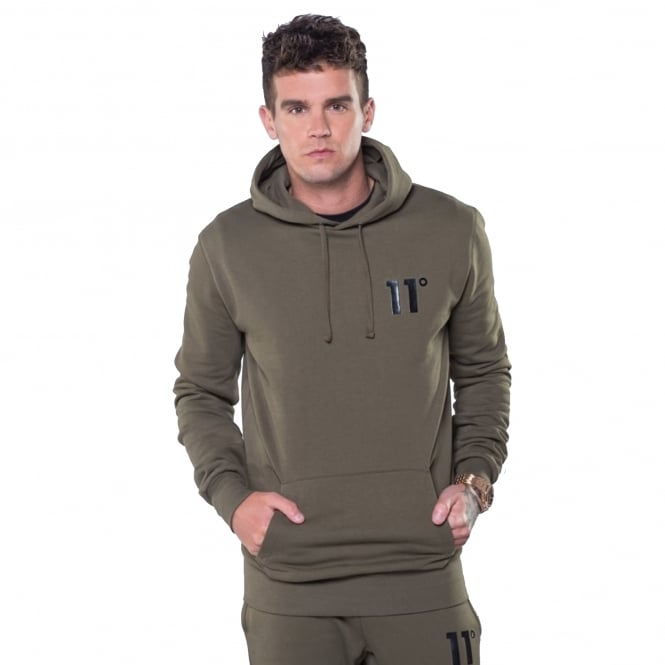 Eleven Degrees 11 Degrees 11D-378 Core Pull Overhead Hoodie - Khaki