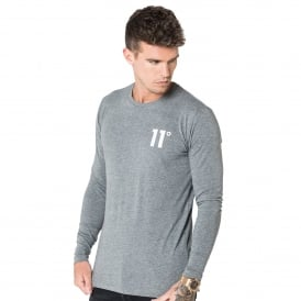 11 Degrees 11D-391 Core Long Sleeve Top - Charcoal