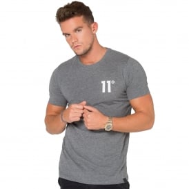 11 Degrees 11D-392 Charcoal Marl Half-Sleeve T-Shirt