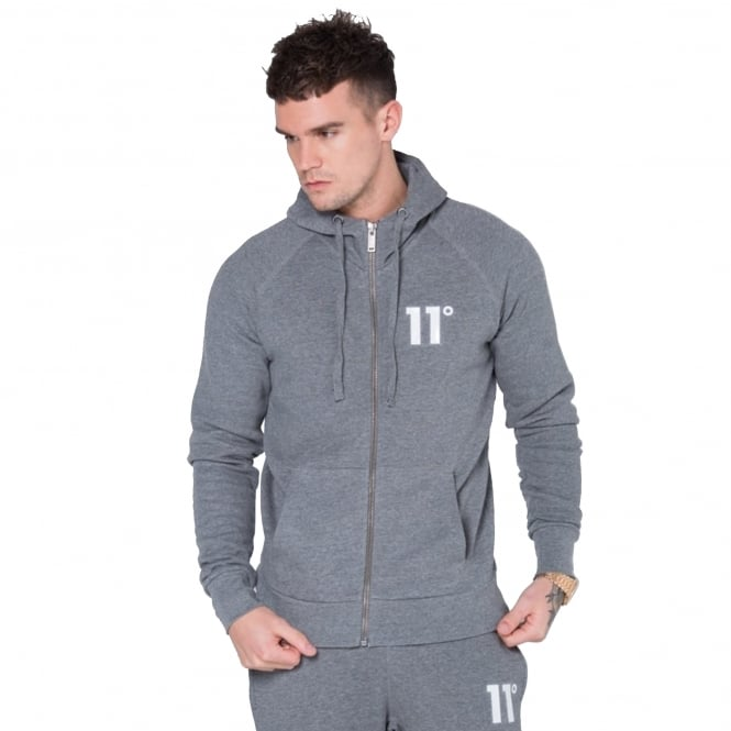 Eleven Degrees 11 Degrees 11D-653 Core Zip Up Hoodie - Charcoal