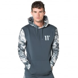 11 Degrees 11D-982 Printed Pull Overhead Hoodie - Watercolour Camo