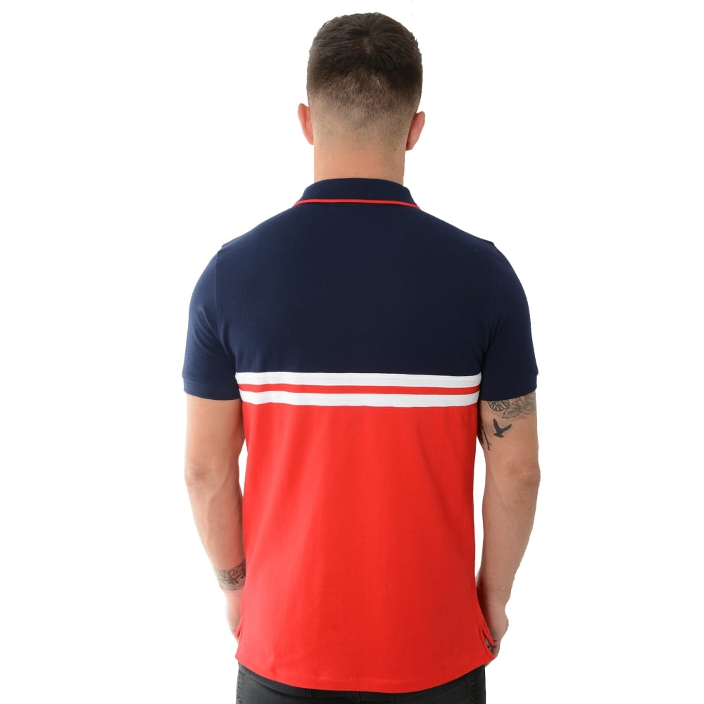 190d4dc8 Buy Fila Polo Tops | CBMenswear | Fila Domenico 048 Navy/Red Polo Top