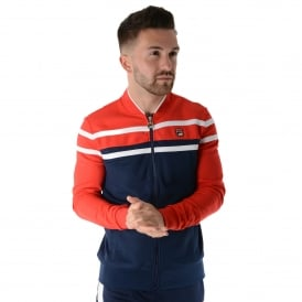 Fila Naso LM161RM8 Vintage Track Top - Red/Navy