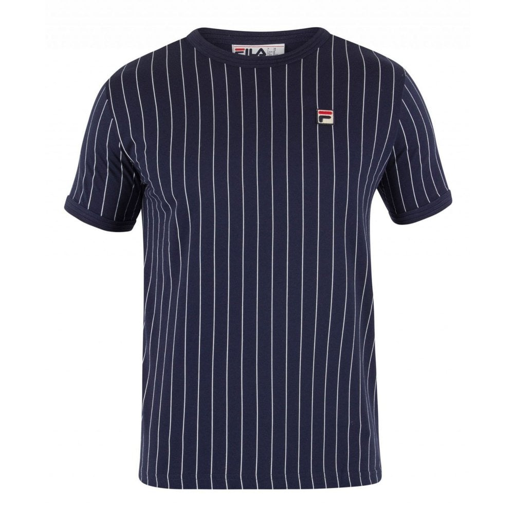 Fila Vintage LM181L16 Pinstripe Guilo Retro T-Shirt 9a131640f7c1