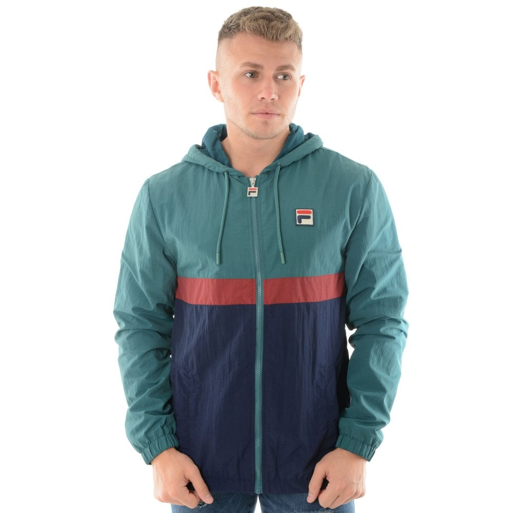 27a6dae77608 Fila Vintage Tate LM1835AQ Lightweight Jacket - Green Navy