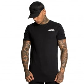 Fresh Couture | Back Logo Long Line Half Sleeve T-Shirt