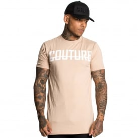 Fresh Couture | Front Logo Long Line Half Sleeve T-Shirt