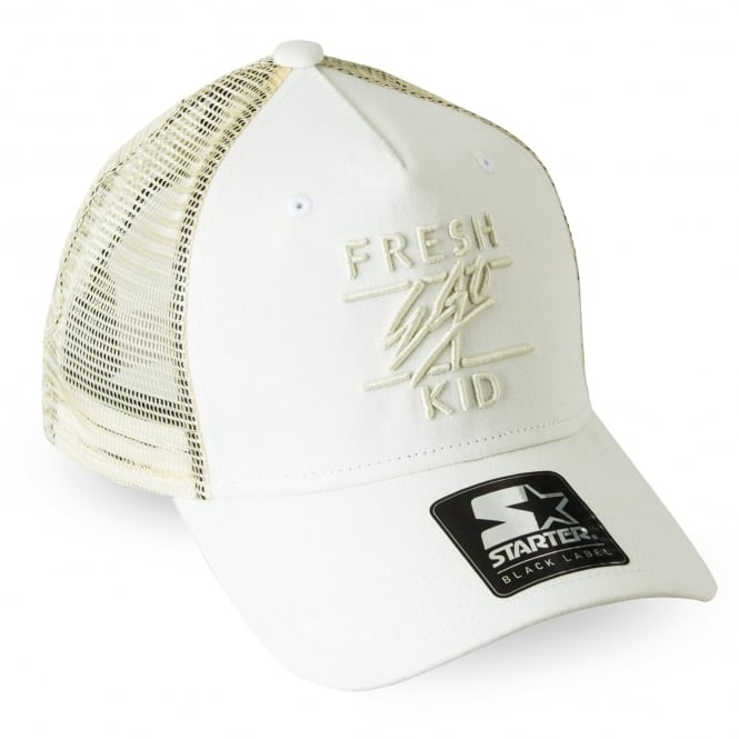 Fresh Ego Kid | S066 Mesh Trucker Cap - White
