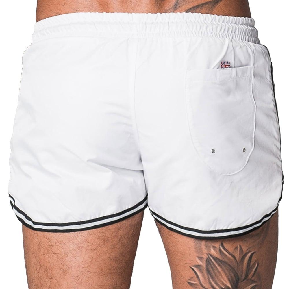 Good For Nothing 000680 Racer Swim Shorts - White 1299fdd48