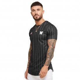 Good For Nothing 0518GFN024 Autograph Pinstripe Jersey T-Shirt - Black