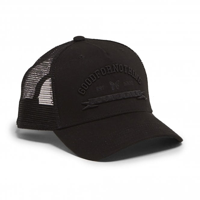 Good For Nothing Blackout 016 Trucker Cap - Black