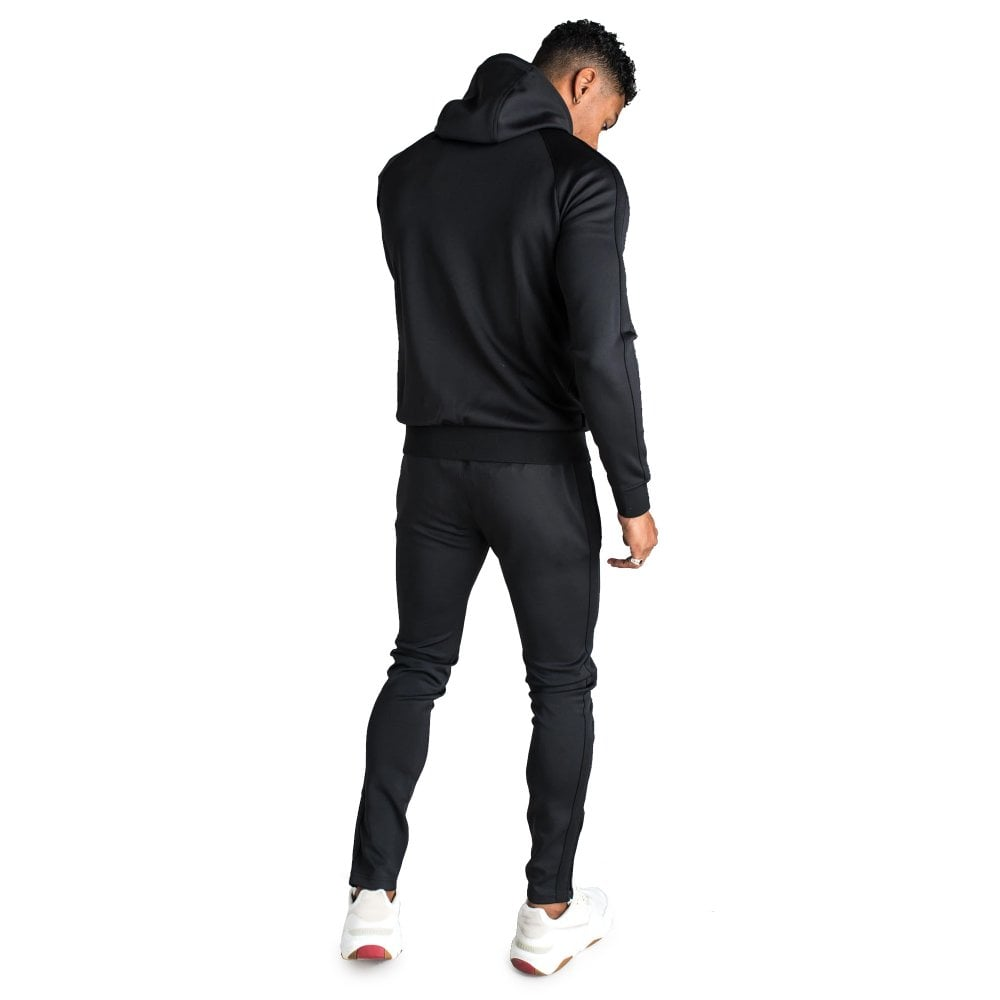Black Gym King Basis Nylon Poly Tracksuit Set