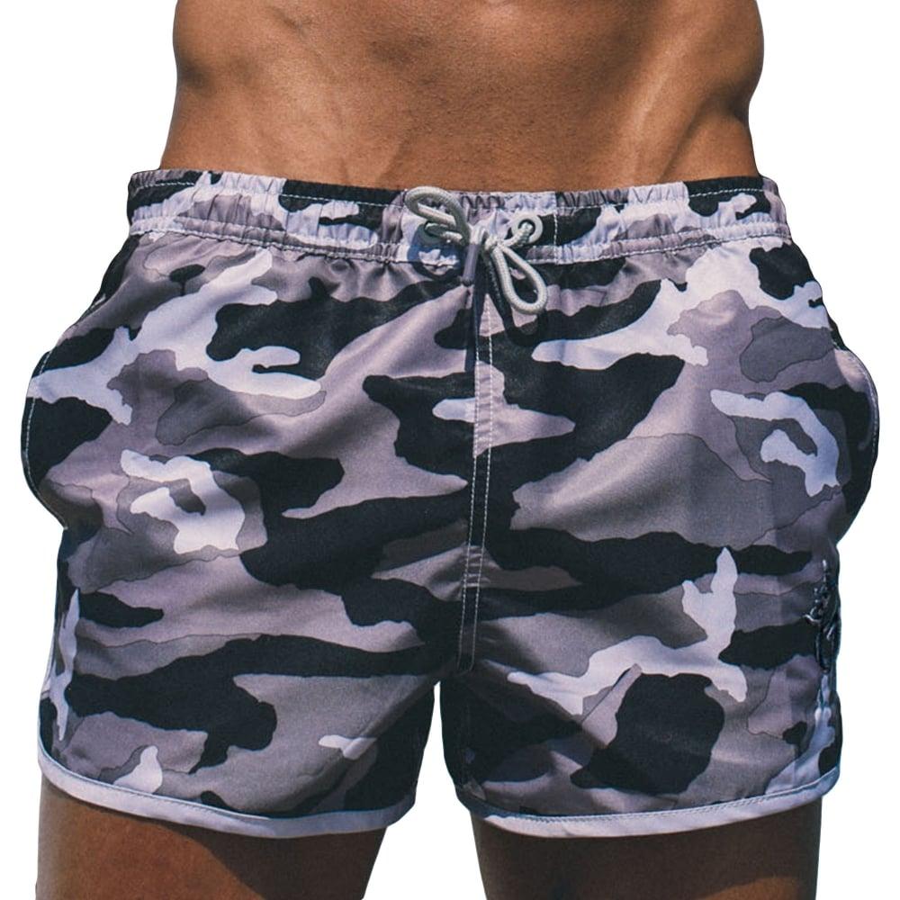 Gym King GK-SS17 Swim Black Shorts - Slate Camo ac636d9e82d6